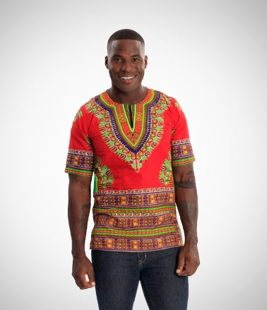 African men's top fashion apparel with Wax and Wonder