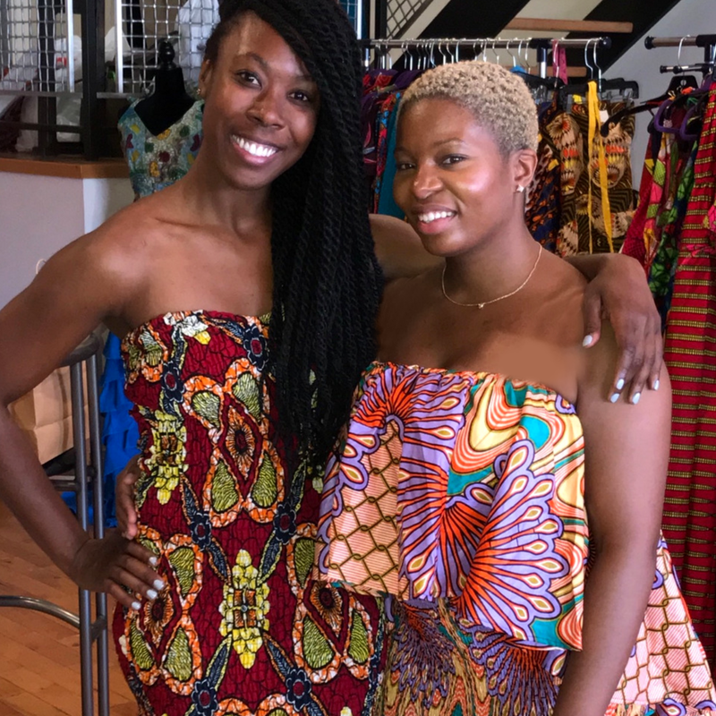 African smock dresses by Wax and Wonder