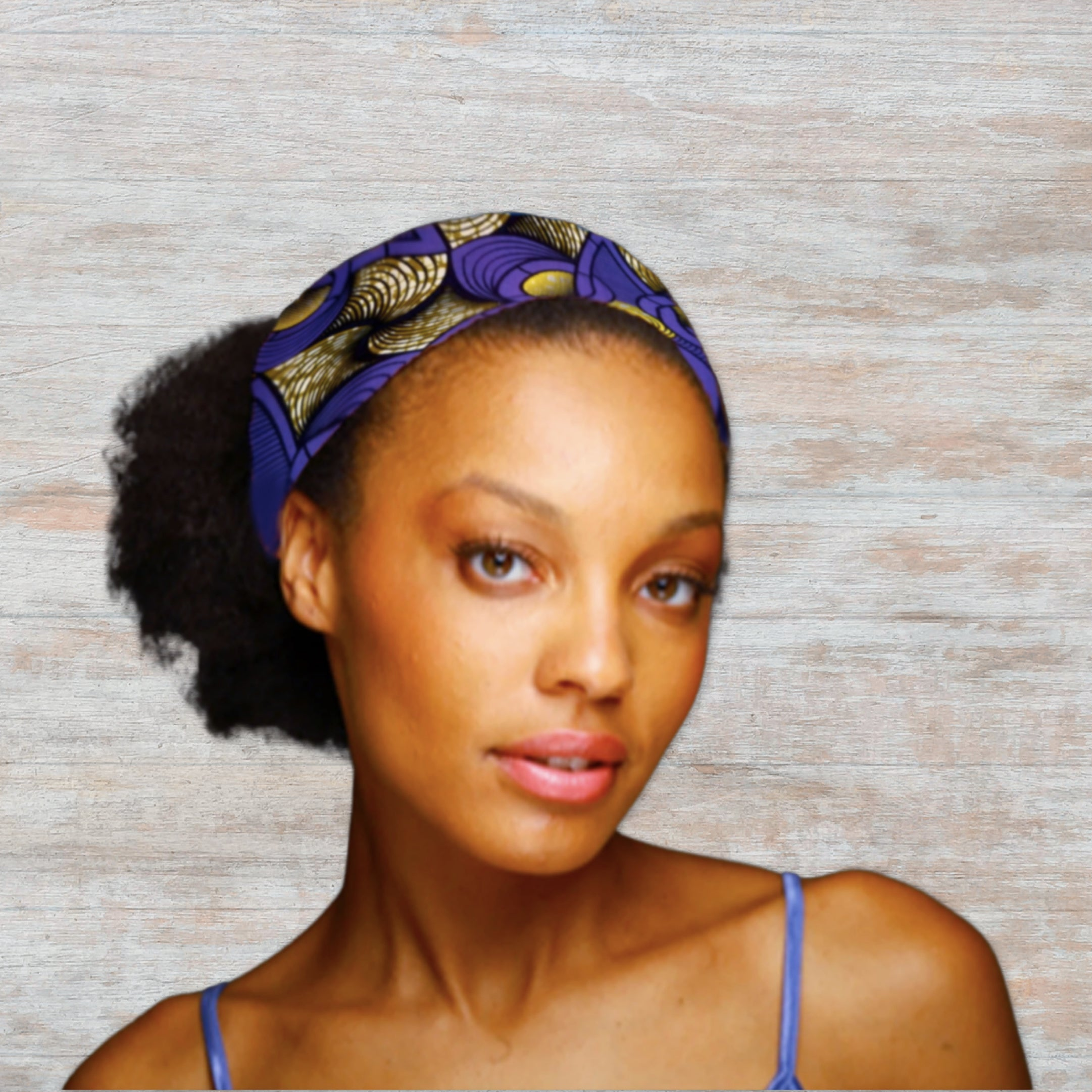 African Headband in Authentic Wax Print Fabric