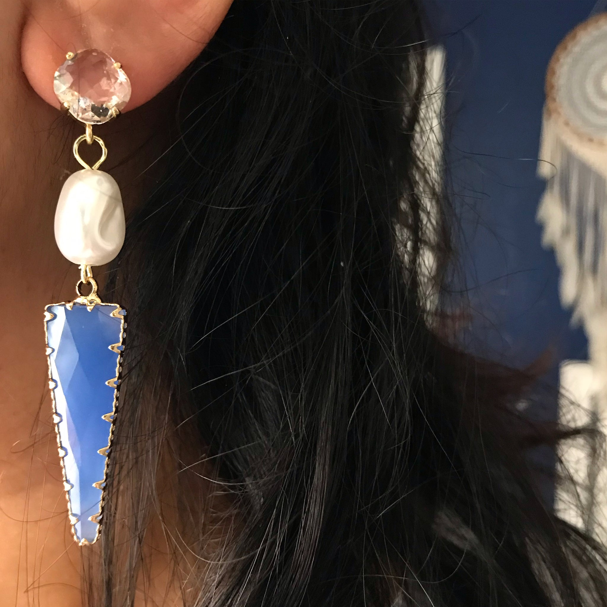 STATEMENT STONE EARRINGS