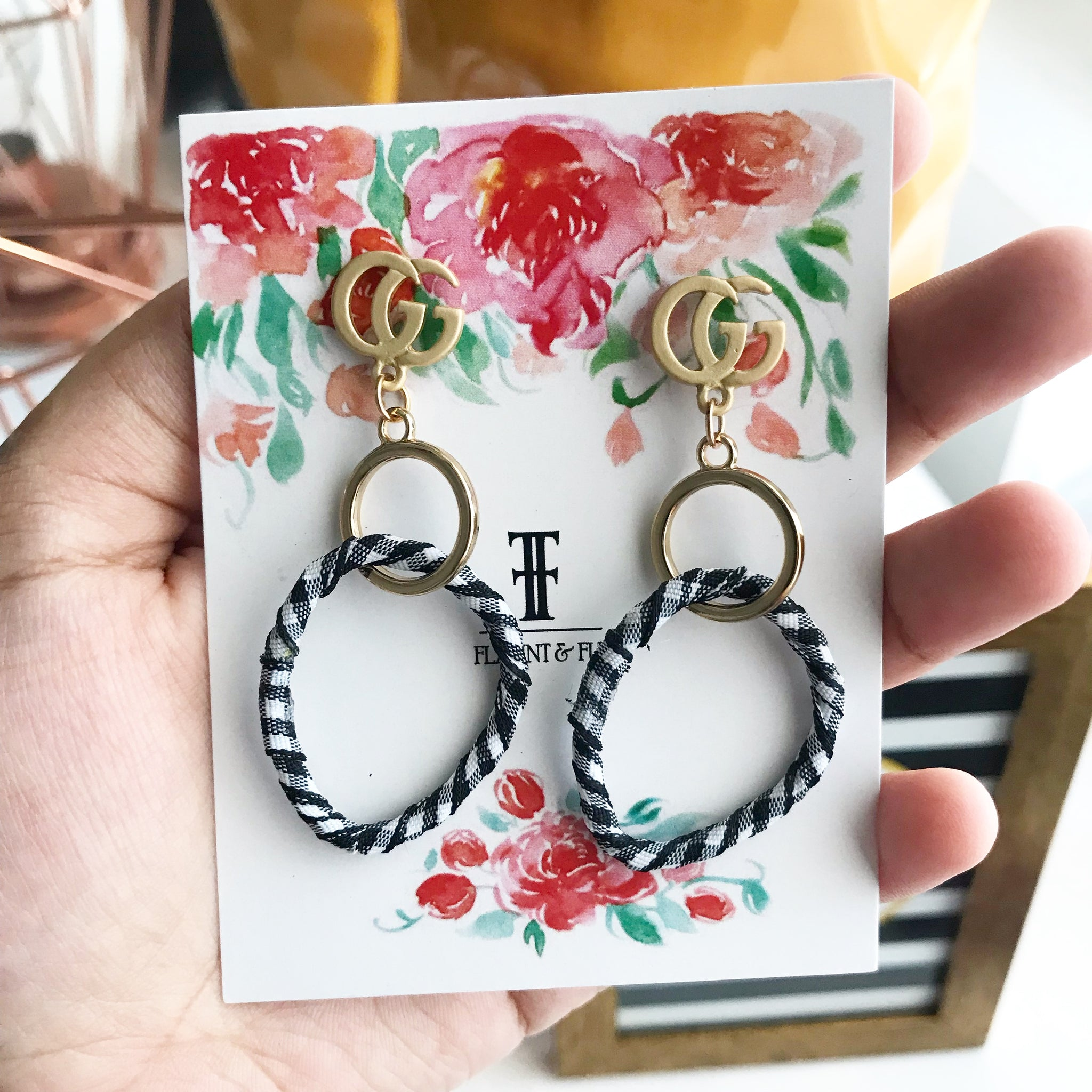 FABRIC METAL EARRINGS