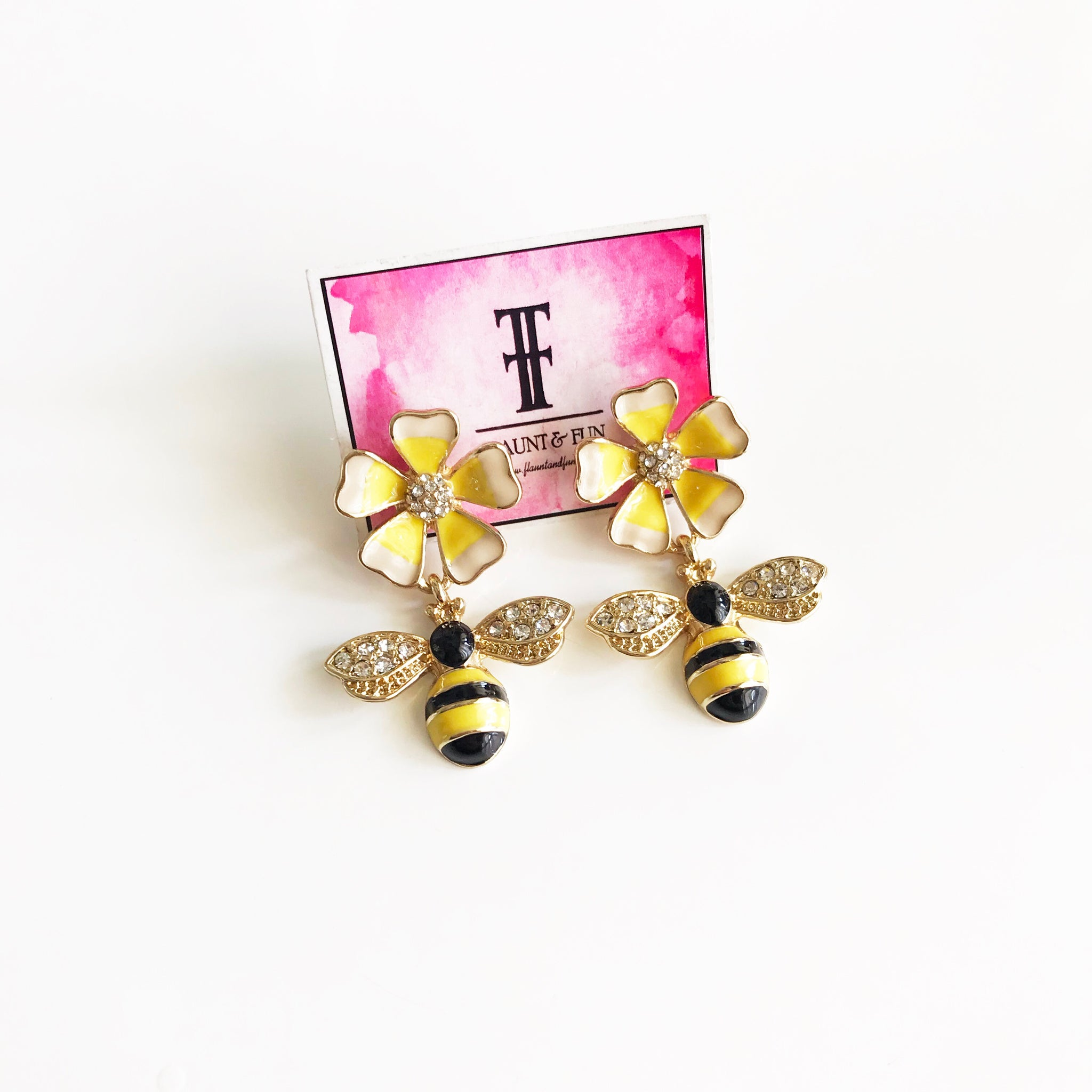 BEE FLOWER EARRINGS 🐝