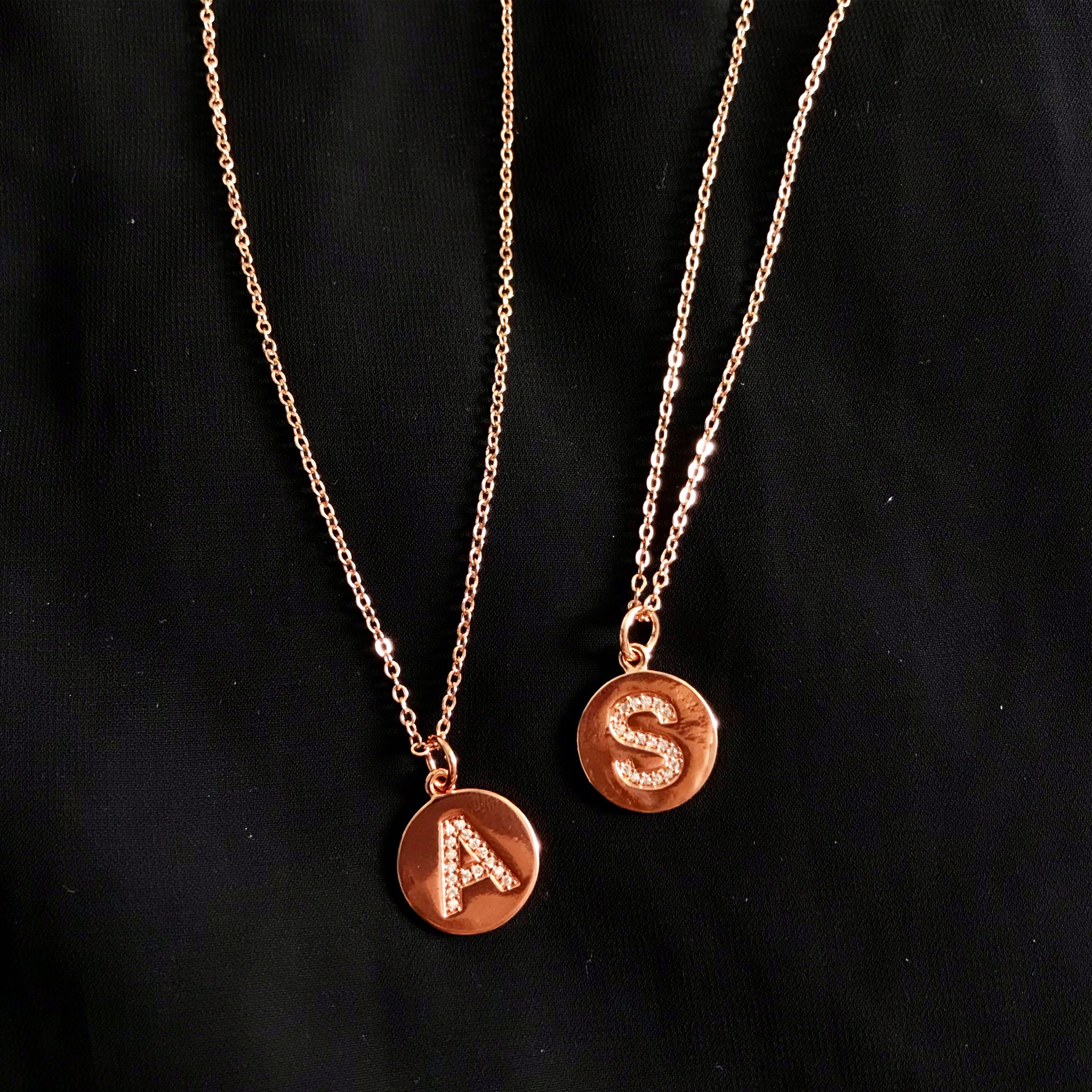 ROSE GOLD LETTER NECKLACE