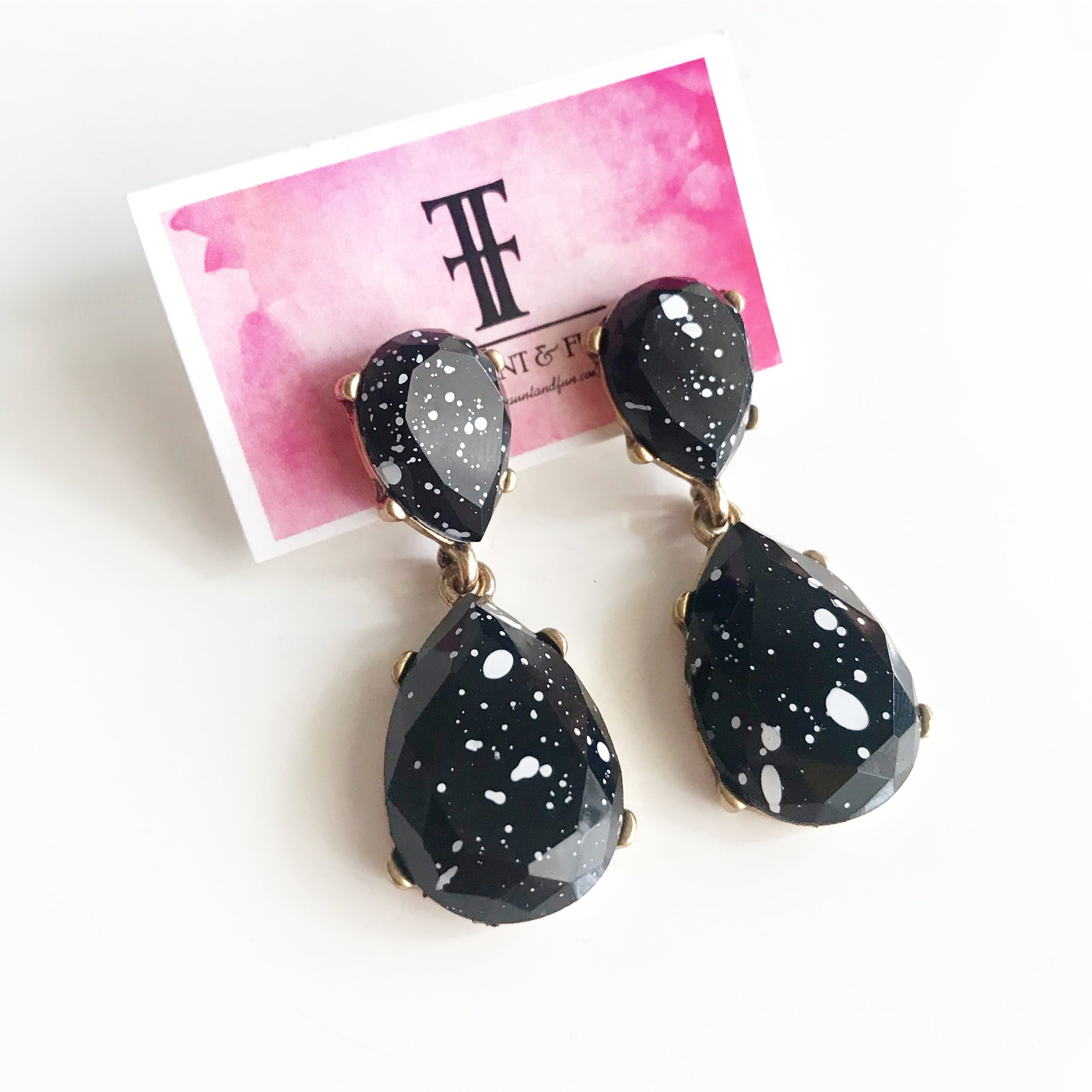 PAINT SPLATTER EARRINGS