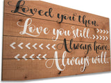 Loved You Then Love You Still Wall Sign