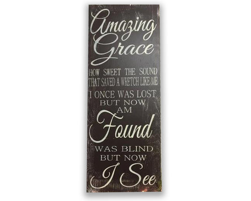 amazing grace wood Christian wall art