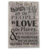 The Best Things In Life Inspirational Wood Wall Decor