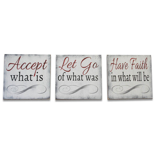 Accept What Is Let Go Of What Was Christian Wood Wall Decor