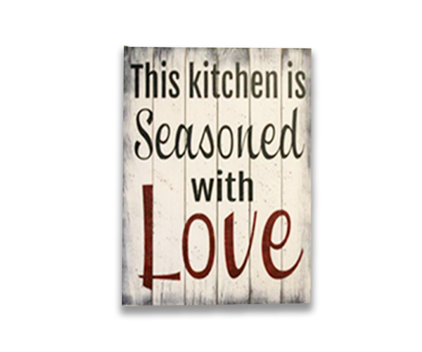 Kitchen And Dining Room Wall DecorThis Kitchen Is Seasoned With Love Wood Sign