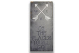 Oh The Places You'll Go Wood Sign Boys Nursery Decor