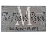 Personalized Family Name Sign for Ranch House