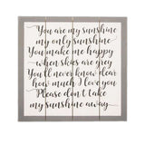 You are my sunshine wall sign nursery decor
