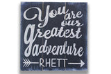 You Are Our Greatest Adventure Boys Personalized Nursery Wall Decor