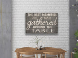 the best memories dining wall decor