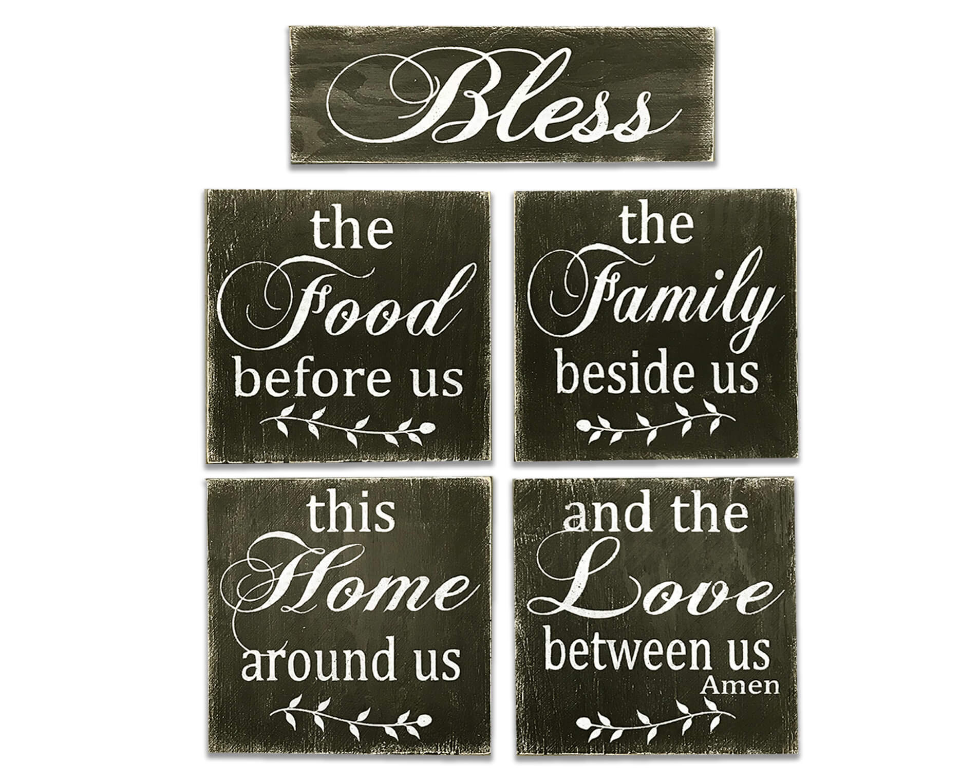 Bless The Food Before Us 5 pc. Wall Decor Set | Rusticly ...
