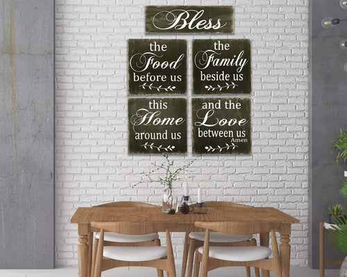 Bless The Food Before Us 5 pc. Wall Decor Set