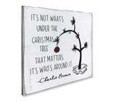 Charlie Brown Quote Christmas wood sign