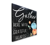 Gather Here Pumpkin Wall Sign