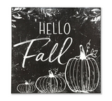 Hello Fall Black and White Wall Sign
