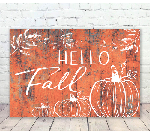 Hello Fall Wooden Wall Sign