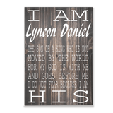Christian wood wall decor I Am His