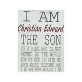 I Am His The Son Of A King Wood Sign Boys Nursery Wall Decor
