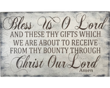 bless us o lord religious signs wall decor