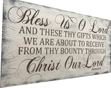 bless us o lord christian dining room wall decor