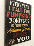 every year i fall for pumpkins autumn wall decor