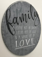 Family A Little Bit Of Crazy Wood Sign Family Room Wall Decor Photo Gallery Wall Sign Housewarming Gift