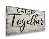 Gather Together Wood Sign Dining Room Wall Decor Farmhouse Shiplap Thanksgiving