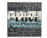 The best things in life Love quote wall sign photo wall