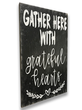 Gather Here With Grateful Hearts Dining Room Wall Decor