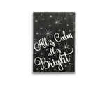 All Is Calm All Is Bright Christmas Wall Decor Farmhouse Vintage Sign