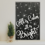 All Is Calm All Is Bright Christmas Wall Sign