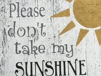You Are My Sunshine Nursery Wall Decor Sign Set