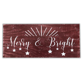 merry & bright christmas wall mantel decor