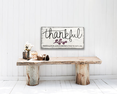 thankful wood wall decor