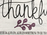 Thankful Wood Sign Wall Decor