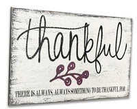 thankful wooden wall sign