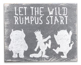 Let The Wild Rumpus Start Wood Sign Boys Nursery Decor