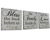 Bless The Food Before Us Dining Room Wall Decor