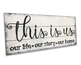 this is us rustic wood sign family room modern farmhouse wall decor