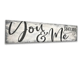 You And Me Wall Decor Personalized with Date