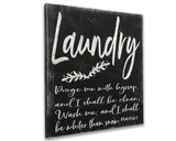 laundry christian wood sign wall decor