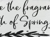 spring wall sign