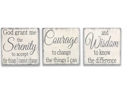 Serenity Prayer Wood Wall Sign Faith and Inspiration
