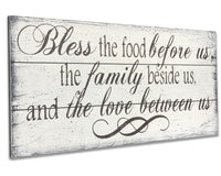 Bless The Food Before Us Dining Room Wall Decor Farmhouse Kitchen