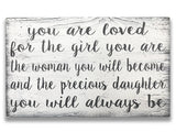 You Are Loved For The Girl You Are Kids Room Decor