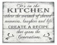 kitchen wood sign where memories are made